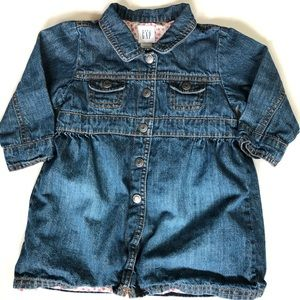 Babygap 6-12m denim jean dress